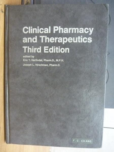 【書寶二手書T3/大學理工醫_WDN】Clinical pharmacy and therapeutics_3/e_Er