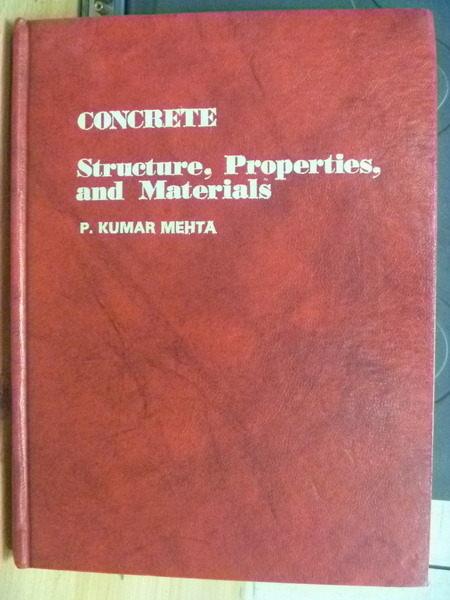 【書寶二手書T4/大學理工醫_ZHL】Concrete_Structure Properties and Materia