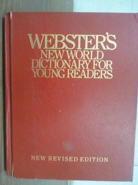 【書寶二手書T4/字典_XEY】Websters New World Dictionary for Young Read