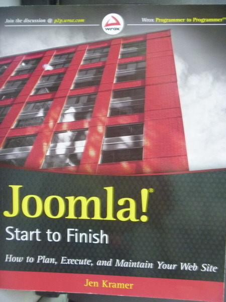 【書寶二手書T8/網路_QKP】Joomla! Start to Finish_Jen Kramer
