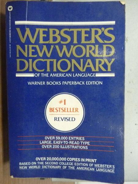 【書寶二手書T3/語言學習_JEH】Websters New World Dictionary_1984年