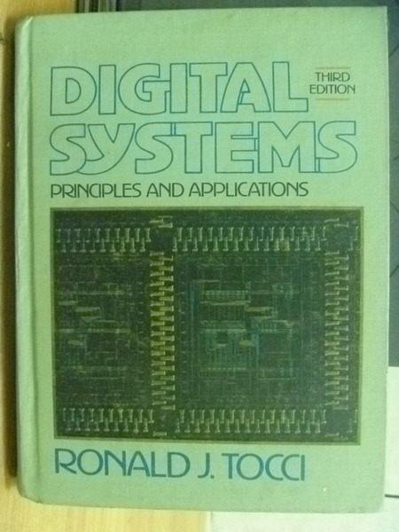 【書寶二手書T2/大學理工醫_ZHU】Digital Systems_Ronald J. Tocci_1985年