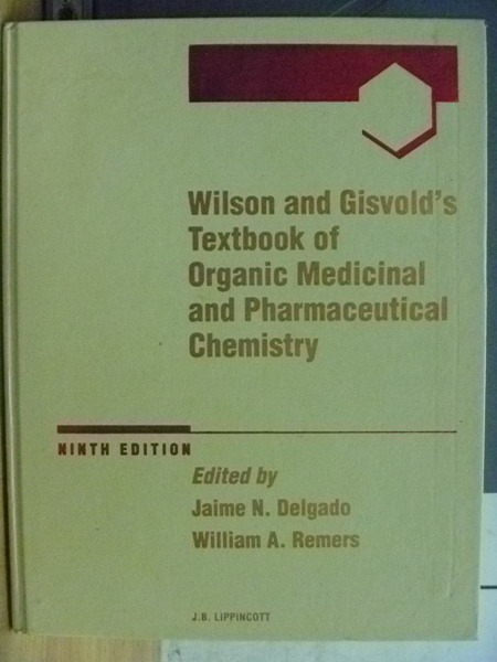 【書寶二手書T2/大學理工醫_XGE】Wilson and Gisvolds Textbook of Organic…_