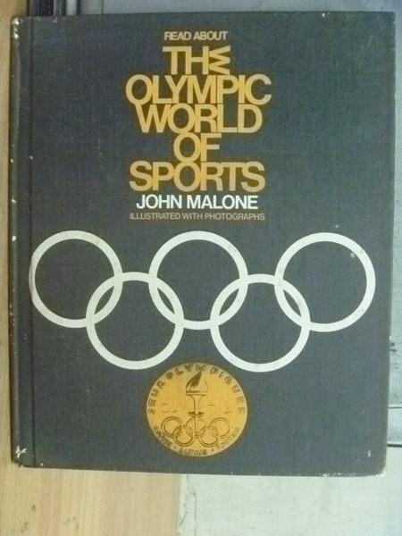 【書寶二手書T7/古書善本_YGE】The Olympic World of Sports_Malone_民60年_不提