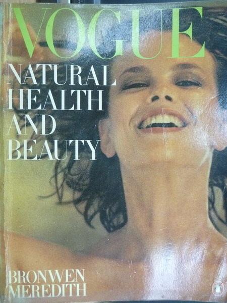 【書寶二手書T4/雜誌期刊_YIG】Vogue_Natural Health and Beauty