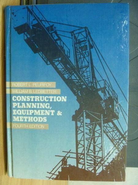 【書寶二手書T9/大學理工醫_WGK】Construction Planning Equipment&Methods_1