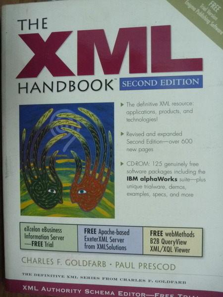 【書寶二手書T6/電腦_QCR】The XML Handbook(2nd Edition)_Charles F. Gol