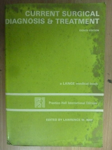 【書寶二手書T4/大學理工醫_WDC】Current Surgical Diagnosis…_1988年