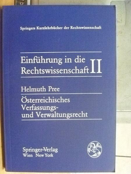 【書寶二手書T3/大學法學_YDS】Einfuhrung in die Rechtswissenschaft II_He