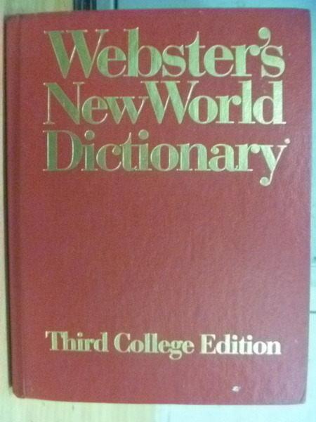 ~書寶 書T7/字典_YHJ~Websters NewWorld Dictionary_T