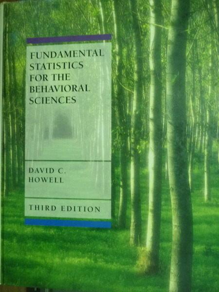 【書寶二手書T6/大學理工醫_PDN】Fundamental statistics for the behavioral