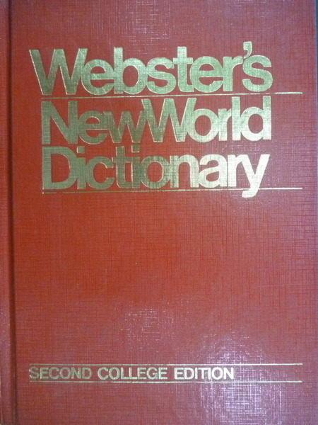 【書寶二手書T6/字典_QIM】Websters New World Dictionary_1986年