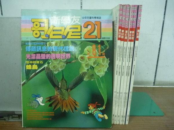 【書寶二手書T6/雜誌期刊_YAY】哥白尼21_81~89期間_7本合售_空中的寶石蜂鳥等