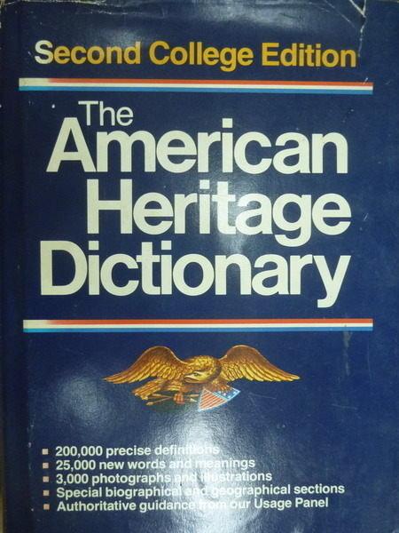~書寶 書T7/語言學習_XBU~The American Heritage Dictio