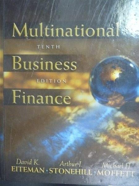 【書寶二手書T3/大學商學_QJJ】Multinational business finance_Eiteman, Da