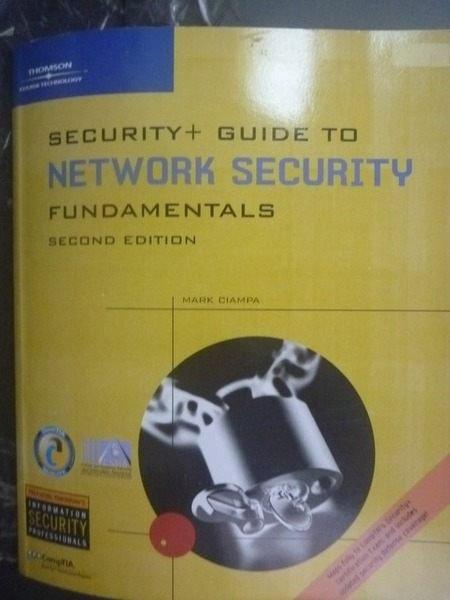 【書寶二手書T7/大學資訊_QJJ】Security+ Guide To Network Security Fundam