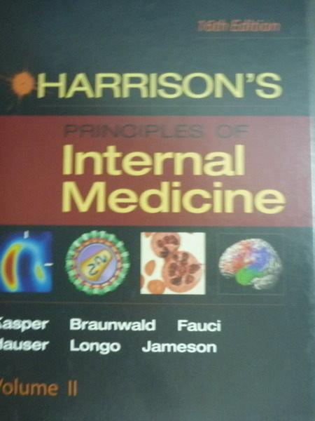 ~書寶 書T3/大學理工醫_QXW~Harrisons Principles of Int