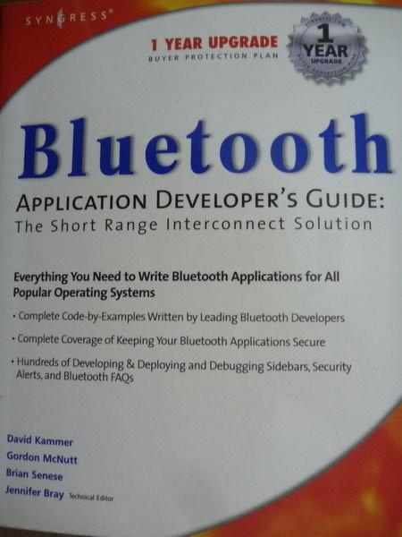 【書寶二手書T2/大學資訊_QXW】Bluetooth Application Developers Guide_Da