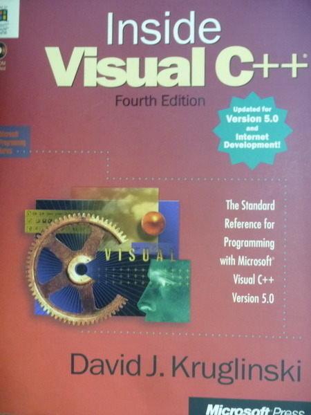 【書寶二手書T9/大學資訊_QXW】Inside Visual C++(Version 5.0)_Kruglinski_