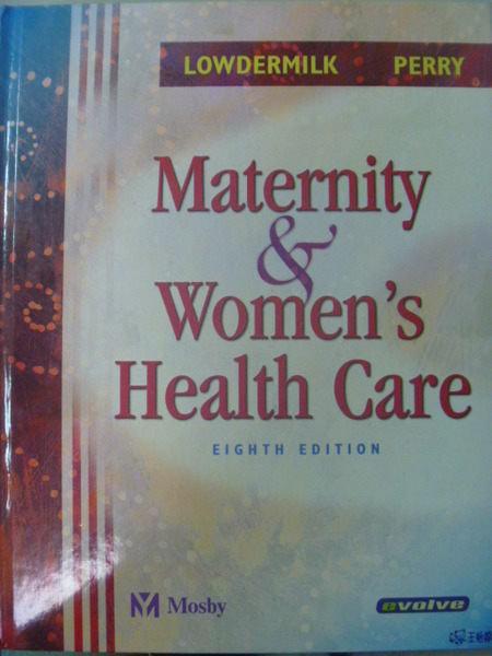 【書寶二手書T8/大學理工醫_XHA】Maternity&womens health care_Lowdermilk_