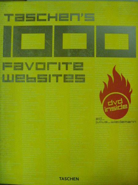 【書寶二手書T6/網路_ZEF】Taschens 1000 Favorite Websites_附DVD