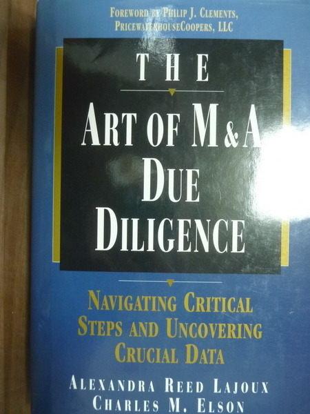 ~書寶 書T2/財經企管_PJW~The Art of M  A Due Diligenc