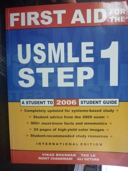 【書寶二手書T5/大學理工醫_ZAR】First Aid for the USMLE
