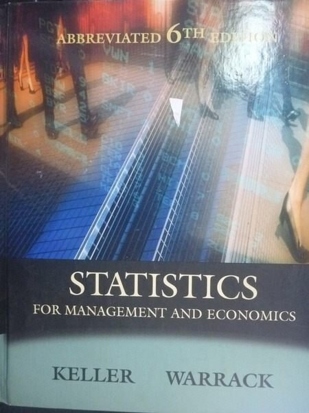 【書寶二手書T2/大學商學_ZAR】Statistics for Management and