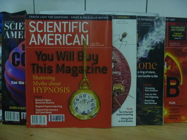 【書寶二手書T5/語言學習_POE】Scientific_2001/1~12期間_5合售_Cosmos等