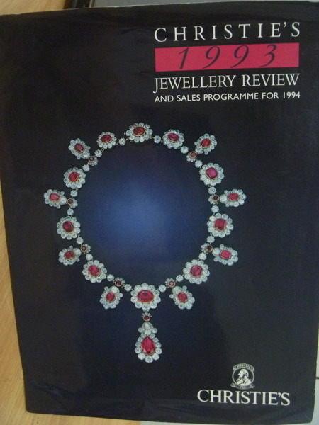 【書寶二手書T5/收藏_PPX】Christies_1993年_Jewellery Review…