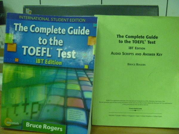 【書寶二手書T4/語言學習_YKO】Guide to the TOEFL_iBT/e_2本合售_附光碟_2007年