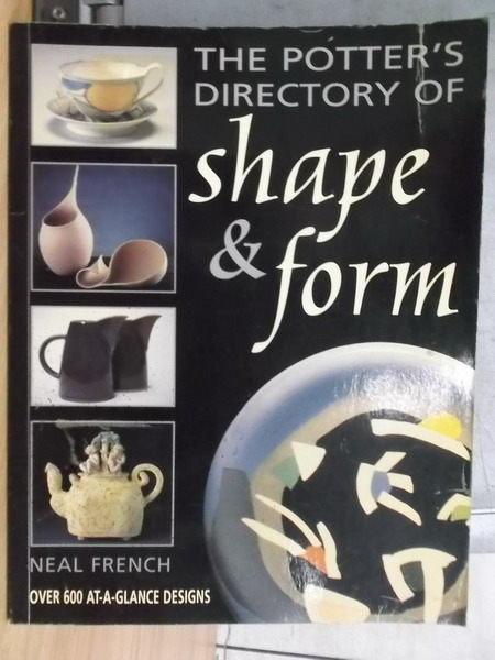 【書寶二手書T7/設計_YBY】The Potters Directory of Shape & Form