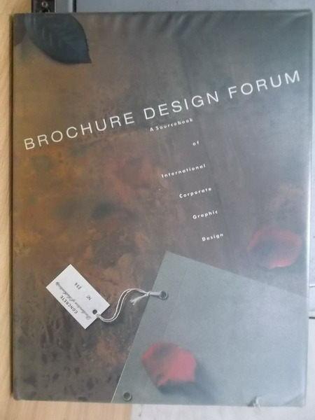 【書寶二手書T9/設計_YFP】Brochure Design Forum_1992年_原價15000日幣