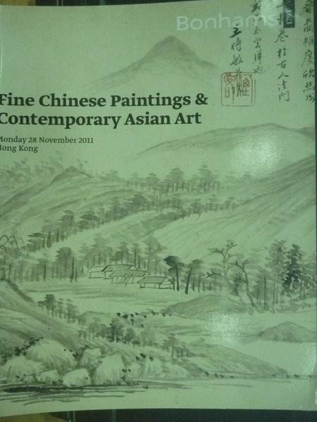 【書寶二手書T7/收藏_XAR】Bonhams_2011/11/28_Fine Chinese Paintings..