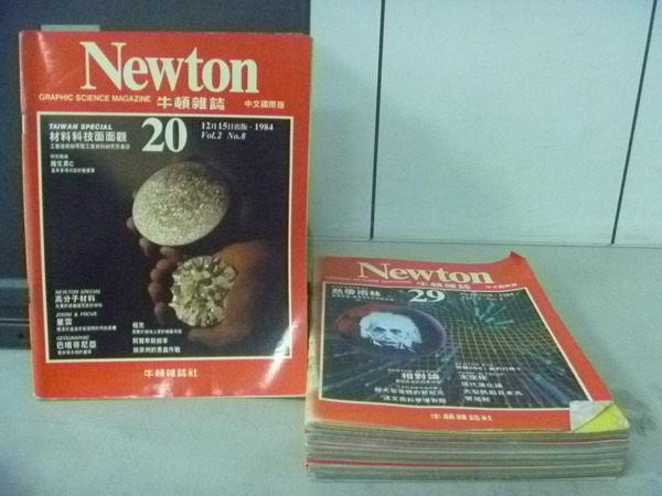 【書寶二手書T4/雜誌期刊_RAC】牛頓_20~29期間_7本合售_材料科技面面觀等