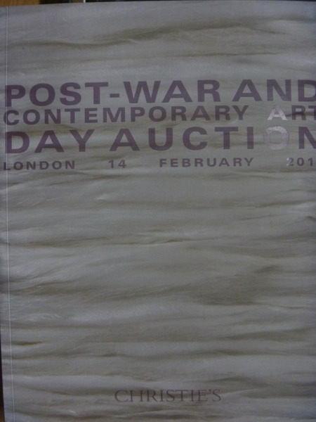 【書寶二手書T5/收藏_ZGJ】Christies_2013/2/14_London_Post-War…