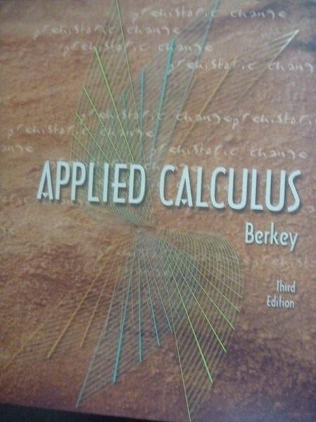 【書寶二手書T2/大學商學_ZDF】Applied calculus