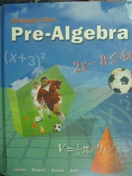 ~書寶 書T7/大學理工醫_ZBG~Pre~Algebra_Ron Larson