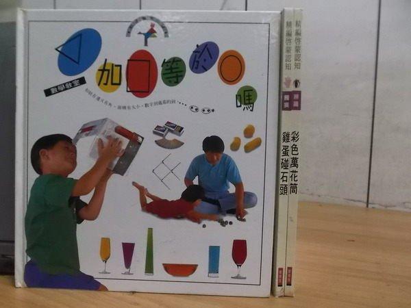 【書寶二手書T4/少年童書_XFL】雞蛋碰石頭_彩色萬花筒等_3本合售