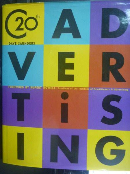 【書寶二手書T8/設計_YHL】20th Advertising_Saunders