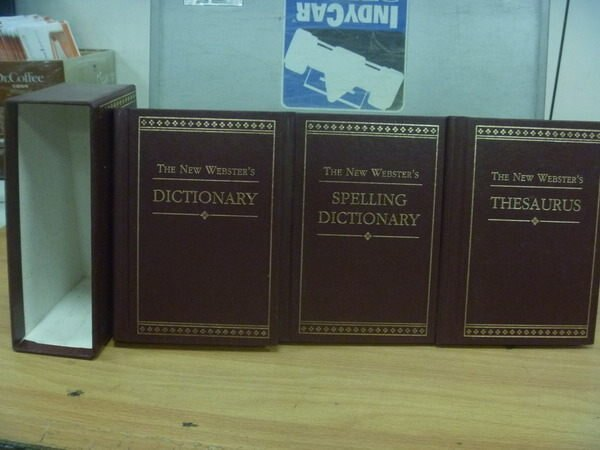 【書寶二手書T5/字典_MON】The New Websters Dictionary_1993年_附書殼_3本合售