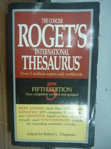 【書寶二手書T4/字典_IQZ】THE CONCISE ROGETS...._Publishers_5/e