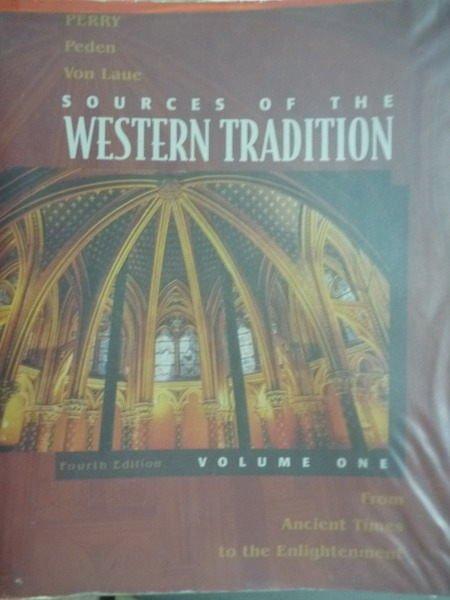【書寶二手書T8/大學社科_PDV】Sources…Tradition:Volume One_4/e