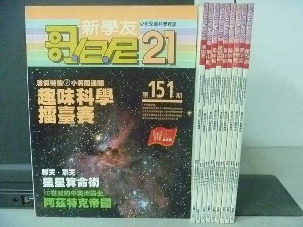 ~書寶 書T2/雜誌期刊_WDJ~哥白尼21_150^~159期間_10本合售_擂台賽等