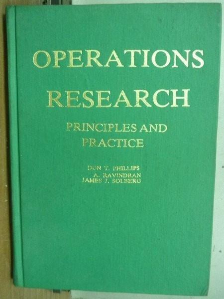 【書寶二手書T5/大學商學_OEH】Operations Research_1976年