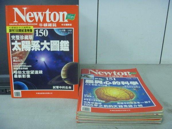 【書寶二手書T3/雜誌期刊_RBM】牛頓_150~159期間_6本合售_太陽系大圖鑑等
