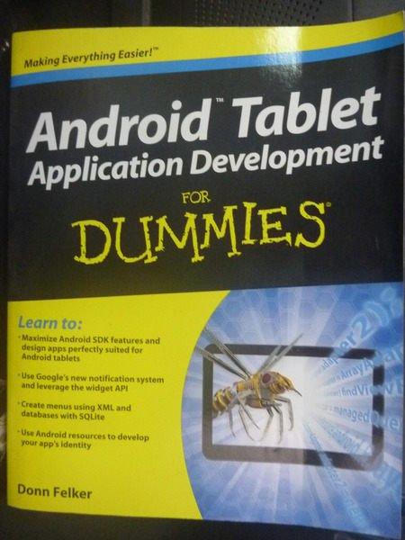 【書寶二手書T4/電腦_ZBC】Android Tablet Applicatio