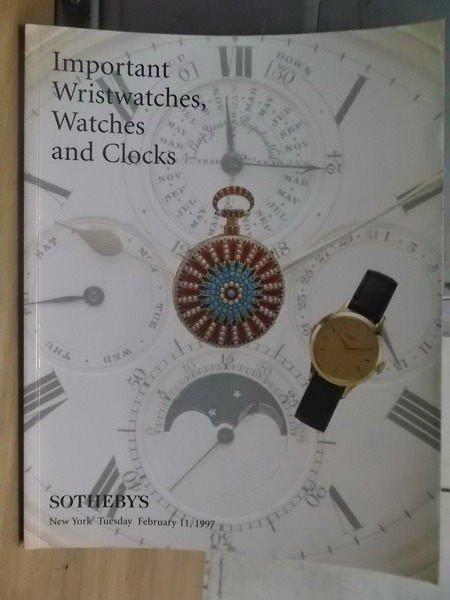 【書寶二手書T4/收藏_XGS】Sothebys_1997_important...and clocks