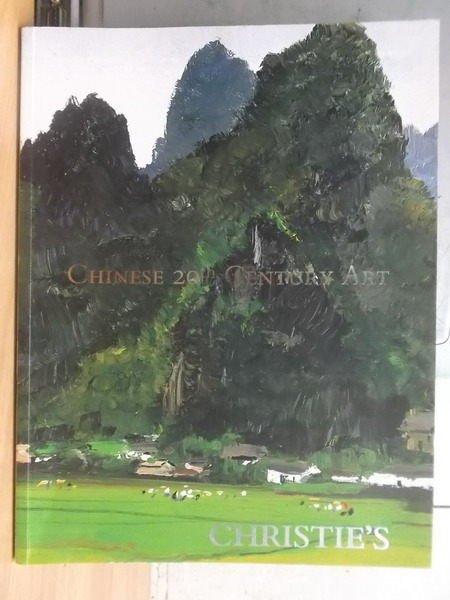 【書寶二手書T8/收藏_XGS】Christies_2008_chinese 20th century art