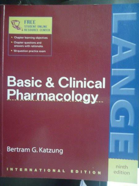 ~書寶 書T5/大學理工醫_XDQ~Basic and Clinical 9 e
